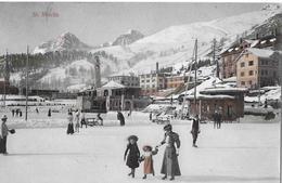ST.MORITZ → Eisbahn Mit Touristen Anno 1909 - GR Grisons