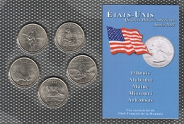 0040 - 'QUARTERS DOLLARS AMERICAIN' - 5 Etats - 2003 - Stati Uniti