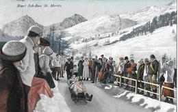 ST.MORITZ → Bob-Run Mit Startenden 4er Bob Anno 1914 - GR Grisons