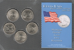 0041 - 'QUARTERS DOLLARS AMERICAIN' - 5 Etats - 2004 - United States
