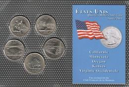 0042 - 'QUARTERS DOLLARS AMERICAIN' - 5 Etats - 2005 - Stati Uniti