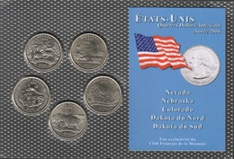 0043 - 'QUARTERS DOLLARS AMERICAIN' - 5 Etats - 2006 - United States