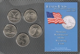 0044 - 'QUARTERS DOLLARS AMERICAIN' - 5 Etats - 2007 - United States