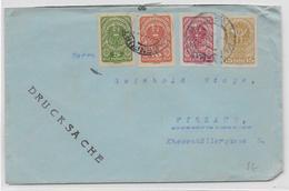 AUTRICHE - 1921 - ENVELOPPE Avec TIMBRES NON DENTELES De KLAGENFURT => VILLACH - 1918-1945 1a Repubblica