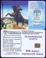 Used Phone CardsTransnistria.Tiraspol. 480 Minutes Tiraspol Telecom.Monument Of Suvorov (Blue - S35) - Moldova