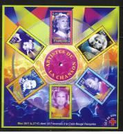 2001:Personnages Célèbres BF 37. Artistes De La Chanson ,cote 12,00€ - Blocs & Feuillets