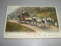CARTOLINA SCHWEIZERISCHE GABIRGPOST 1903 - Cartoline