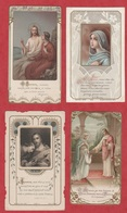 Image Pieuse - SANTINO - Holly Card - N° 250 - 4 Pc - Images Religieuses