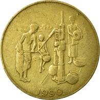 Monnaie, West African States, 10 Francs, 1990, Paris, TB+, Aluminum-Bronze - Côte-d'Ivoire