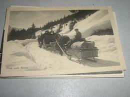 CARTOLINA POST NACH AROSA 1914 - Postal Services