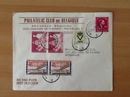 Enveloppe Philatelic Club De Belgique.  Zending Van Brussel Naar Etterbeek. 23-12-58. - Lettres & Documents