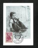 BELGIQUE - BELGIE - Carte MAXIMUM 1960 - BRUXELLES - ANNEE MONDIALE DU REFUGIE - Cartoline Maximum