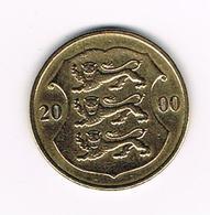 //   ESTLAND  1  KROON  2000 - Estonia