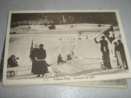 CARTOLINA CHATEAU D'OEX -CONCOURS DE LUGES 1917 - Cartoline
