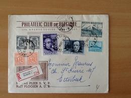 Enveloppe Philatelic Club De Belgique.Aangetekende  Zending Van Elsene Naar Etterbeek. 19-12-55. - Lettres & Documents