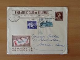 Enveloppe Philatelic Club De Belgique.Aangetekende  Zending Van Elsene Naar Etterbeek. 5-12-55. - Lettres & Documents