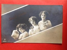 1914 - DRIELING MET ZAK GELD, KLAVERTJE EN  HOEFIJZER - TRIPLES AVEC SAC D'ARGENT, TREFLE ET FER DE CHEVAL - New Year