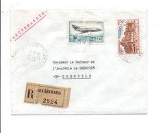 AFFRANCHISSEMENT COMPOSE SUR LETTRE RECOMMANDEE DE AIX LES BAINS 1968 - Marcophilie (Lettres)