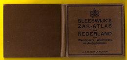 SLEESWIJK 'S ZAK-ATLAS Van NEDERLAND Voor WANDELAARS WIELRIJDERS En AUTO FIETSER Ca1933 Geschiedenis BUSSUM FIETSEN Z327 - Boeken, Tijdschriften, Stripverhalen