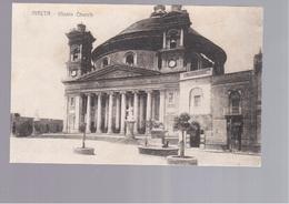 MALTA Musta Church OLD POSTCARD - Malta