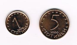 //  BULGARIJE  1 En 5  STOTINKI  2000 - Bulgarie