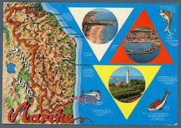 °°° Cartolina - S. Benedetto Del Tronto Spiaggia - Veduta Aerea Vedutine Viaggiata °°° - Ascoli Piceno