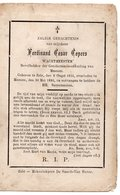 1 ZELE COPERS RIJKSWACHT WACHTMEESTER MEENEN MENEN 1854 - 1886 - Religión & Esoterismo