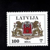802388447 1994 SCOTT 377 POSTFRIS MINT  NEVER HINGED EINWANDFREI (XX)  PROVINCIAL MUNCIPAL ARMS - RIGA - Lettonie
