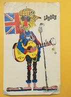CARTOLINA POSTCARD INGHILTERRA ENGLAND 1968LONDON BADGE AND NOVELTY CO BOLLO ELISABETTA II - Regno Unito