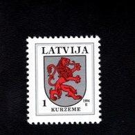 802390373 1994 SCOTT 363 POSTFRIS MINT  NEVER HINGED EINWANDFREI (XX)  PROVINCIAL MUNCIPAL ARMS - KURZEME - Lettonie