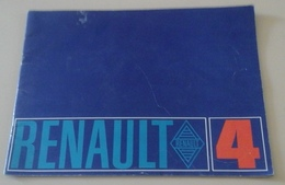 Plaquette Publicitaire Renault 4 1968 - Advertising