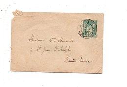 SAGE SUR LETTRE DE PARIS 9 DU 1/1/1895 - Marcophilie (Lettres)