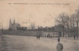Chateauroux (Indre), France, 1900-1910s ; Le Pont Du Chemin De Fer Et L'Eglise St-Andre - France