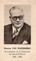 ST-PIETERS-LEEUW BURGEMEESTER VAN WAYEYENBERG BOURGEMESTRE DE LEEUW-ST-PIERRE - Religion & Esotérisme