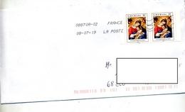 Lettre Flamme Chiffree Sous Code Sur Croix Rouge Carnet - Marcophilie (Lettres)