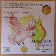 Médaille Touristique Cacatoes De Leadbeater 2009 Sous Encart - Monnaie De Paris