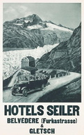 @@@ MAGNET - Hotels Seiler - Belvédère (Furkastrasse) & Gletsch - Pubblicitari