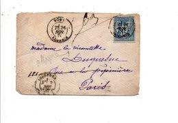 SAGE SUR LETTRE DE BONE ALGERIE DU 26/11/1879 - 1877-1920: Semi Modern Period