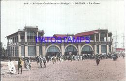 115975 AFRICA DAKAR SENEGAL THE STATION TRAIN POSTAL POSTCARD - Postcards