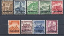 Duitse Rijk/German Empire Luxemburg/Luxembourg 1941 Mi: 33-41 Yt: 33-41 (PF/MNH/Neuf Sans Ch/nuovo Senza C./**)(4551) - Bezetting