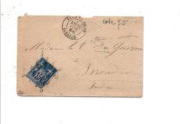 SAGE SUR LETTRE DE GARE DE BRIVE CORREZE DU 29/10/1888 - Marcofilie (Brieven)