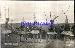 115978 AFRICA AMAGWETA COSTUMES NATIVE DANCER POSTAL POSTCARD - Postcards