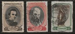 Russie 1939 N°Y.T. ; 711 à 713 Obl. - Used Stamps