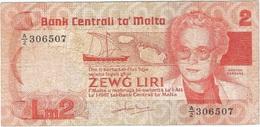Malta 2 Liri 1986 Pk 37 A Ref 3 - Malta