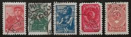 Russie 1939-1943 N°Y.T. ; 734 à 737A Obl. - 1923-1991 UdSSR