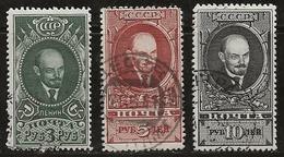 Russie 1939 N°Y.T. ; 738 à 740 Obl. - Used Stamps