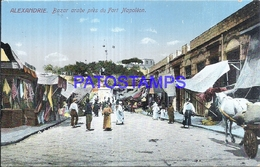 115980 AFRICA EGYPT ALEXANDRIE COSTUMES MARKET BAZAR ARAB FORT NAPOLEON POSTAL POSTCARD - Postcards