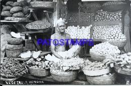 115983 AFRICA COSTUMES NATIVE SELLER VEGETABLE POSTAL POSTCARD - Postcards