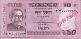 TWN - BANGLADESH 54i-S - 10 Taka 2018 Specimen - 0000000 UNC - Bangladesh