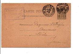 ENTIER SAGE DE NANCY DU 25/8/1891 - Marcofilia (sobres)